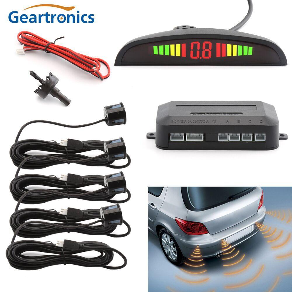 Universal Car LED Bi Bi Alarm Parking Sensor With 4 Sensors Cars Sensor Reverse Assistance <font><b>Backup</b></font> Radar Monitor Detector System
