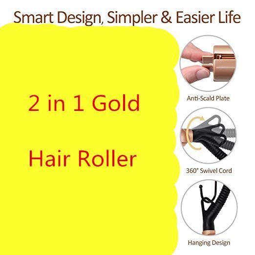 2 en 1 Pro rouleau de maïs en céramique magique bigoudi cheveux baguette cheveux lisseur Style redressage fer plat outils de coiffure