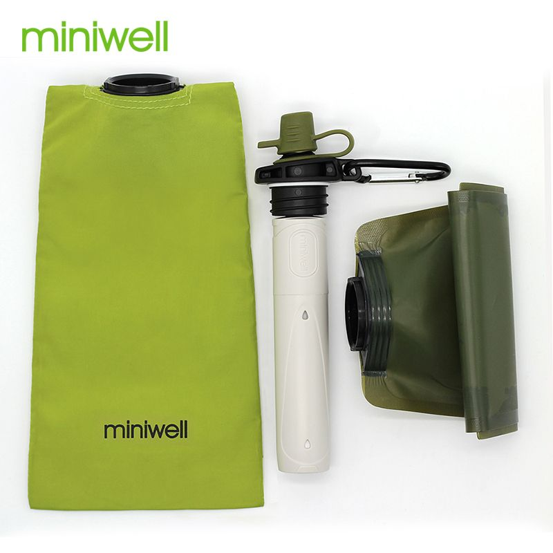 Survie Camping en plein air et randonnée Purification de l'eau Portable avec sac d'eau filtrée en déplacement