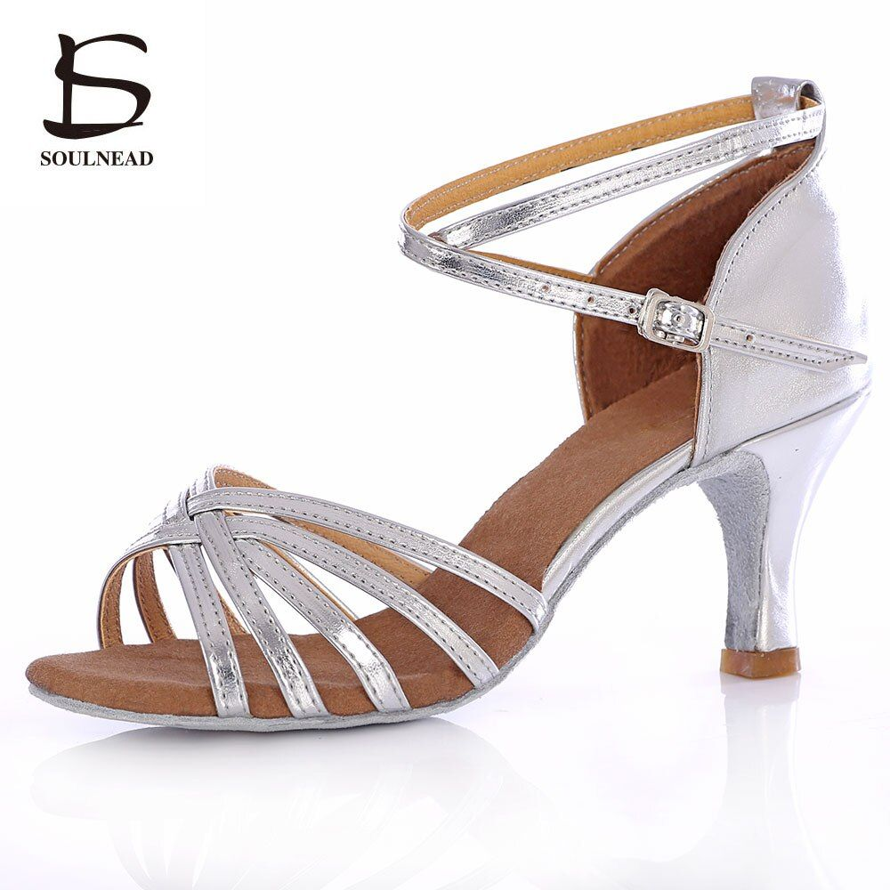 Salsa chaussures de danse latine pour femmes filles Tango chaussures de danse de salon talons hauts chaussures de danse douce 5/7cm sandales de danse de salon