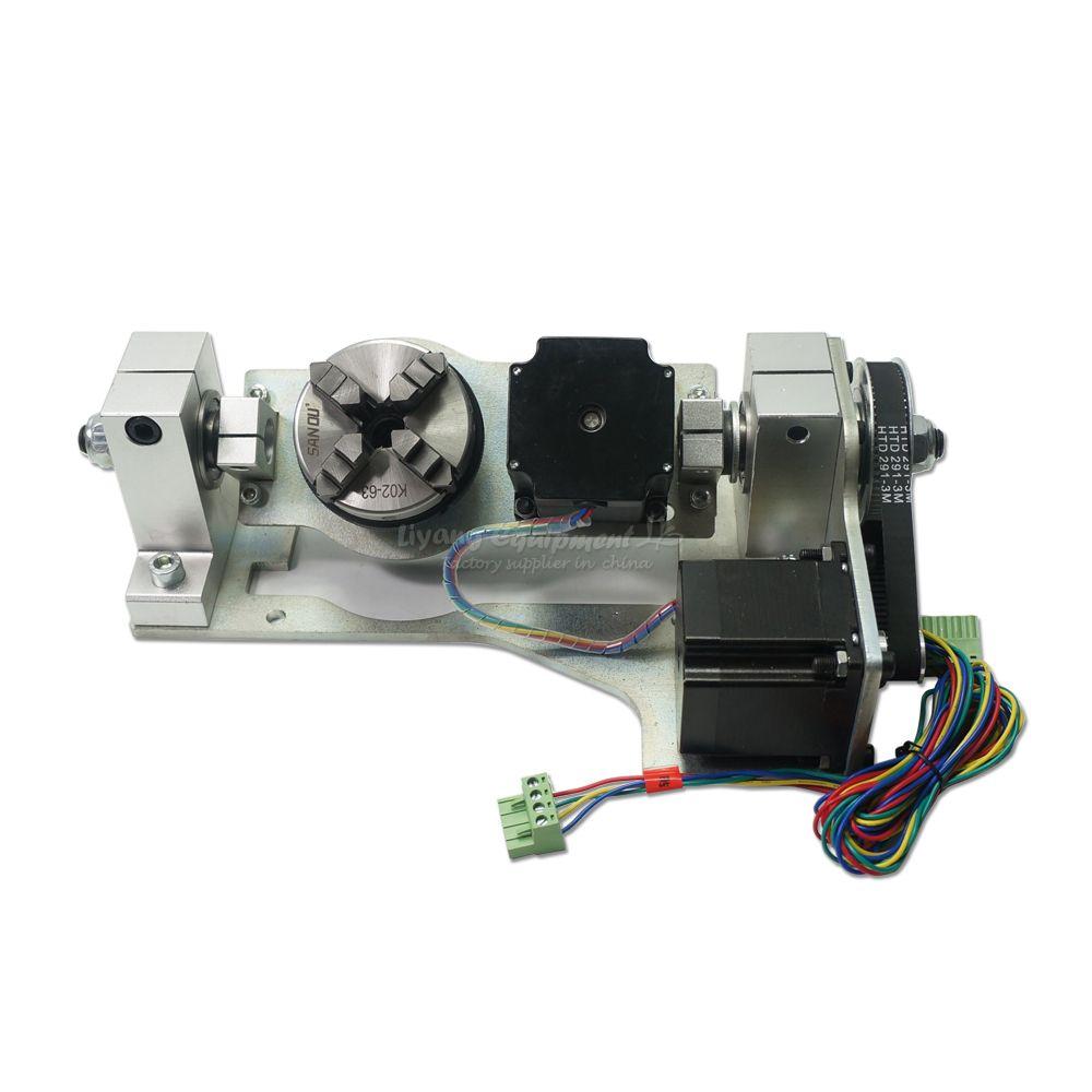 CNC DIY 5th achse drehachse mit chuck tisch für diy cnc router 3020 3040 3060 6040 8060 gravur maschine pa rts