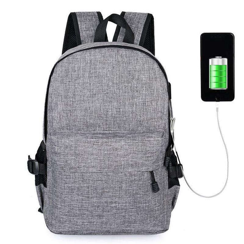 TAOLEQI Anti-theft Backpack Men Women Backpacks USB Charge Laptop Design Male Travel Backpack For School Bag Girls Boys Black