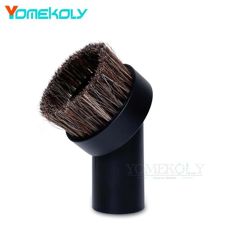 1PC Vacuum Cleaner Brush Head Suction Nozzle Horsehair Replacement Round Dusting Brush 32mm Keyboard Gap Vacuum Cleaner Parts