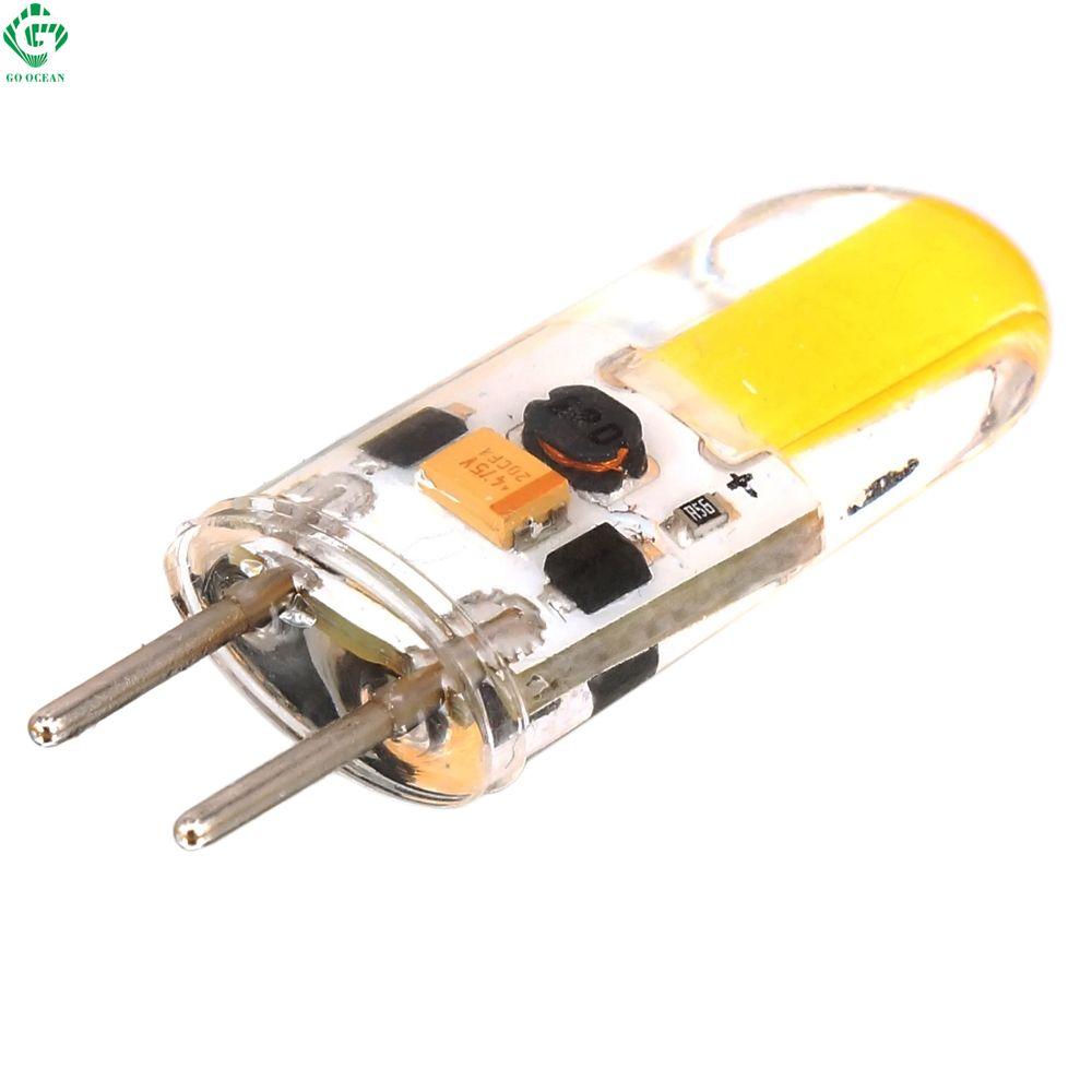 gy6.35 utilisables avec un variateur lampe led 12v ac / dc silicone conduit cob ampoule 2w remplacer 30 / 40 du cristal d'éclairage lampes halogènes lustre