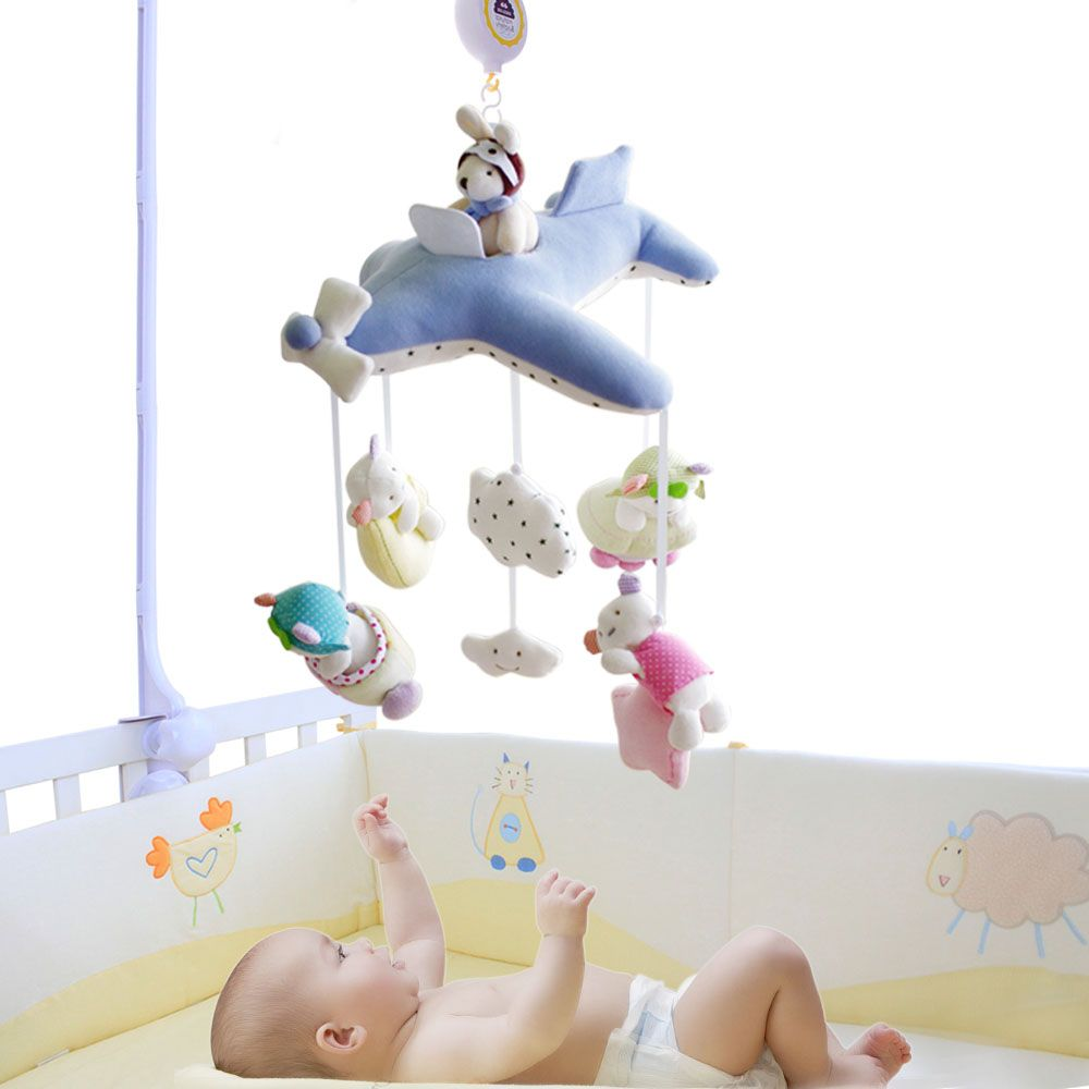 Шило кроватки коляски игрушки кроватки Mobile детские плюшевые куклы для детей для новорожденных мальчиков и девочек подарок с 60 песни музыка...