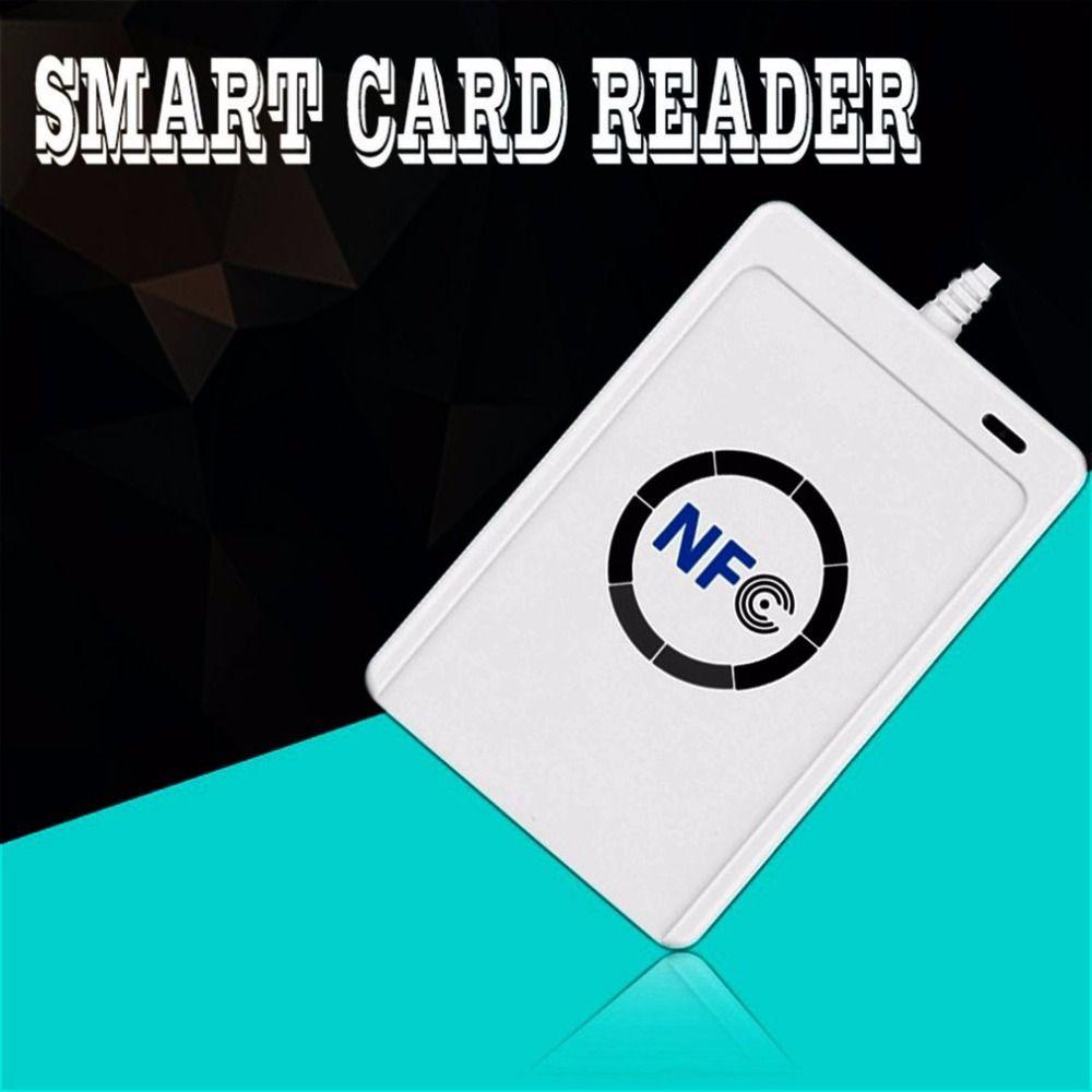 1 комплект Профессиональный USB ACR122U NFC RFID считыватель смарт-карт писатель для всех 4 типов NFC (iso/IEC18092) теги + 5 шт. M1 карты Горячий