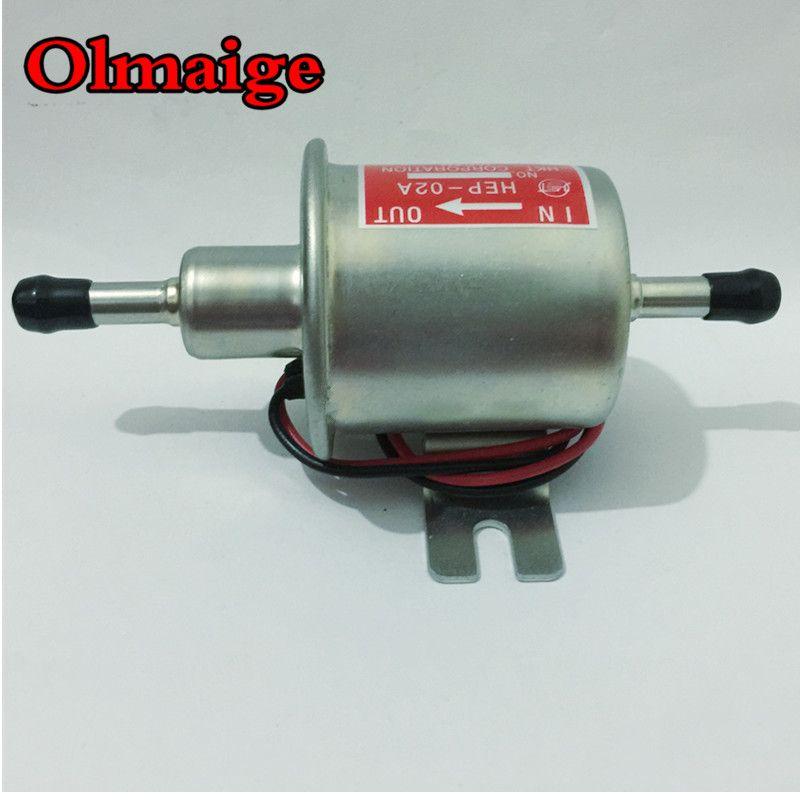 Livraison gratuite essence diesel essence 12 V pompe à essence électrique HEP-02A pompe à essence basse pression pour carburateur, moto, vtt