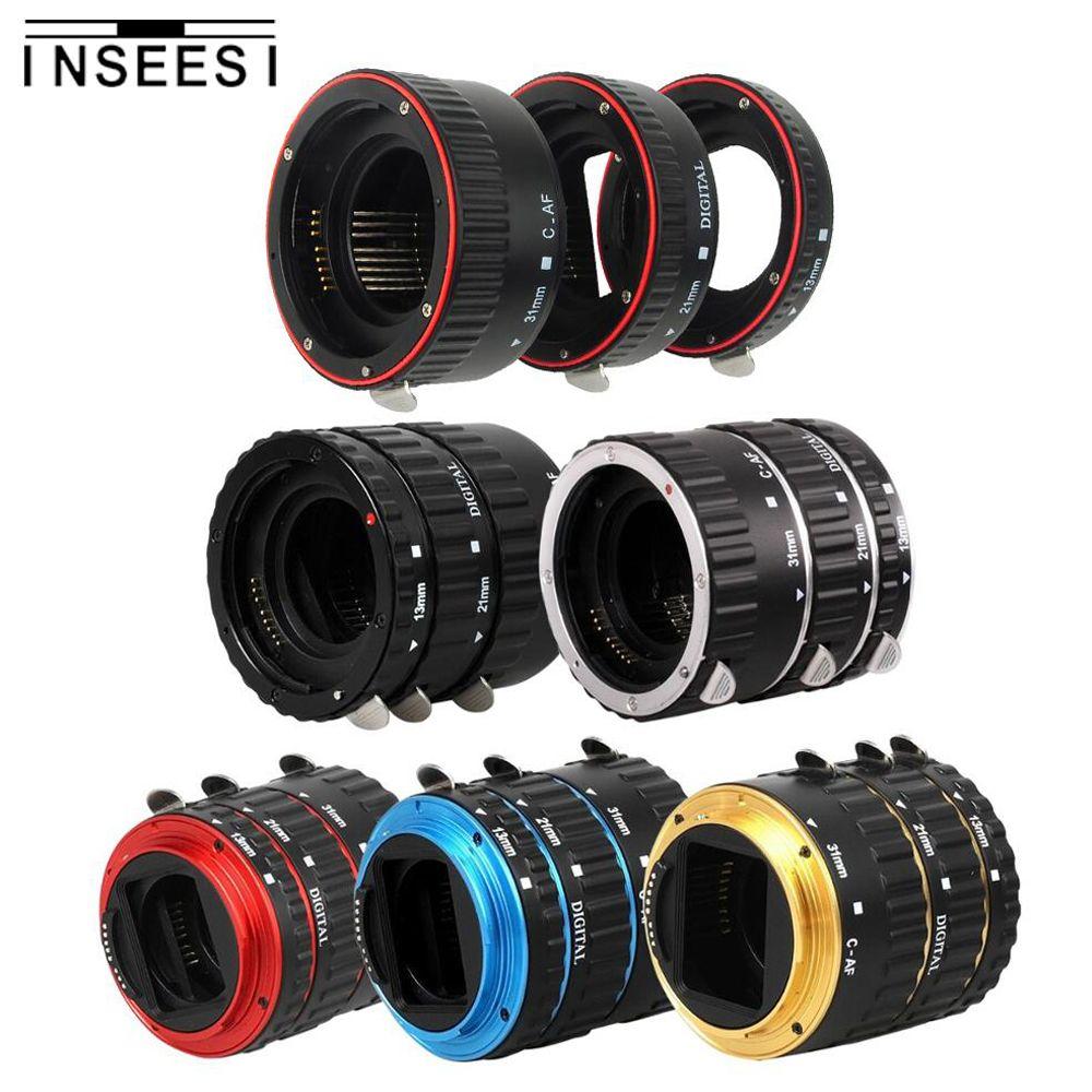 Camera Lens Adapter Metal Mount Auto Focus AF Macro Extension Tube Ring For Canon EOS EF-S Lens 750D 80D 7D T6s 6D 7D 5D Mark IV
