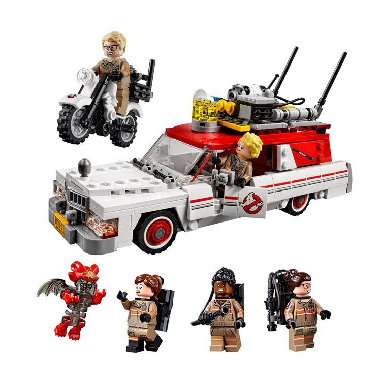 LEPIN Ghostbusters Ecto-1 & 2 Movie Series Building Blocks Bricks Model Kids Toys Marvel Compatible Legoings