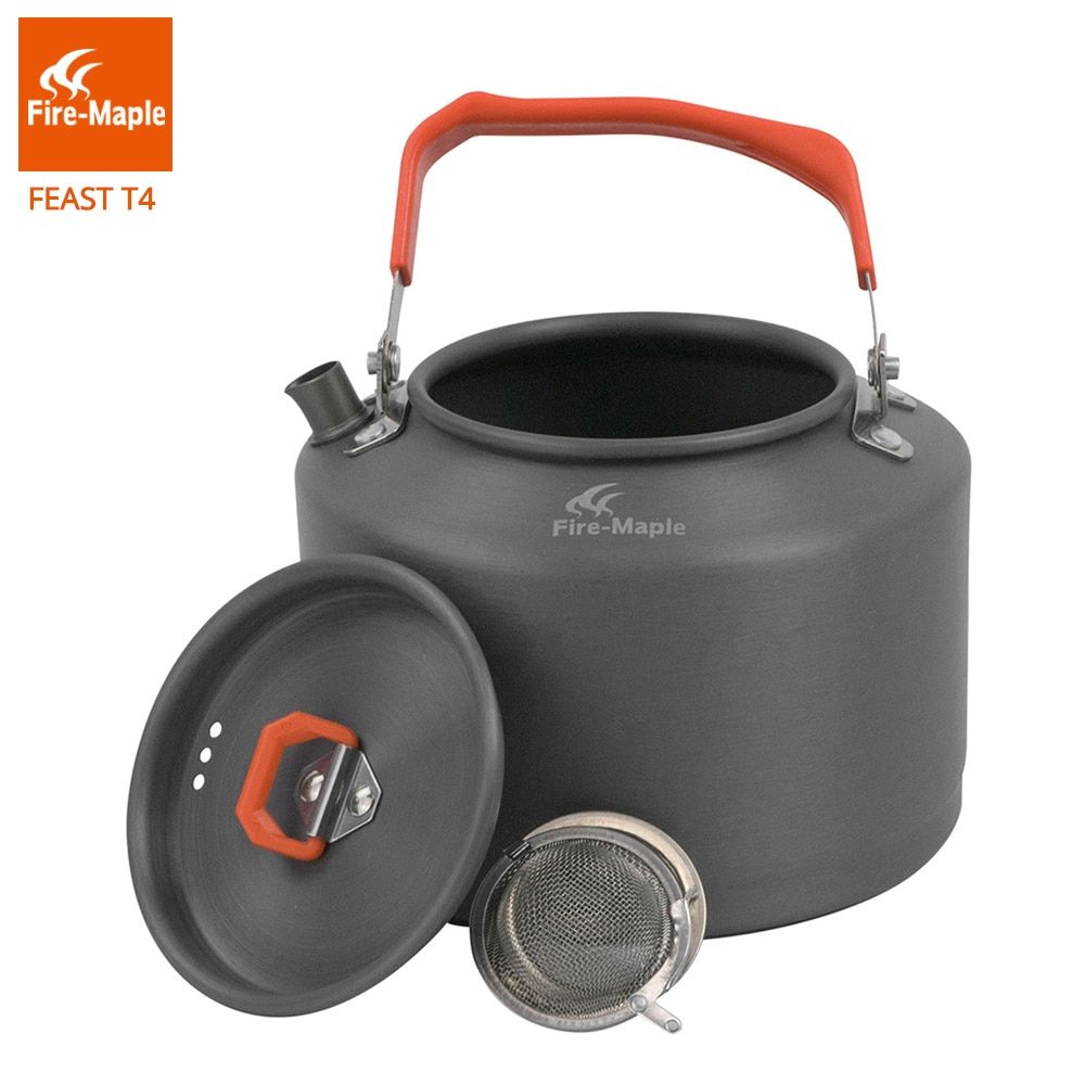 Fire Maple Outdoor Camping Kettle Coffee Tea Pot 1.5L with Heat Proof Handle and Tea-strainer FMC-T4