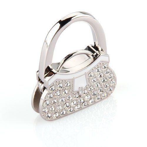 Wholesale 10*AUAU Metal RhInestone Folding Handbag Purse Table Hook Hanger Holder