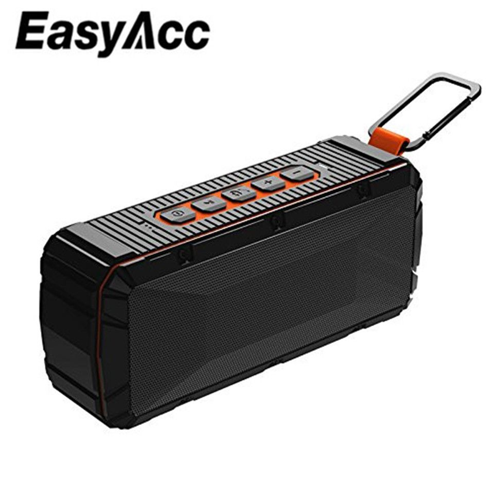 EasyAcc V3 Portable Waterproof Bluetooth 4.2 Speaker with Microphone, Micro SD Card USB Sticks IPX6 for Samsung Xiaomi