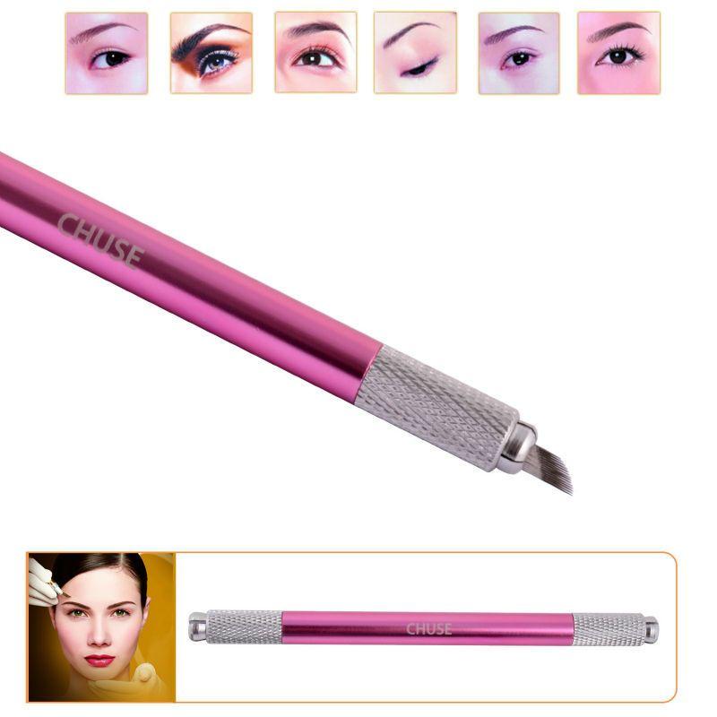 100% Original célèbre marque CHUSE M6 sourcil Microblading manuel stylo Permanent maquillage Machine tatouage Set les deux têtes peuvent être utilisées