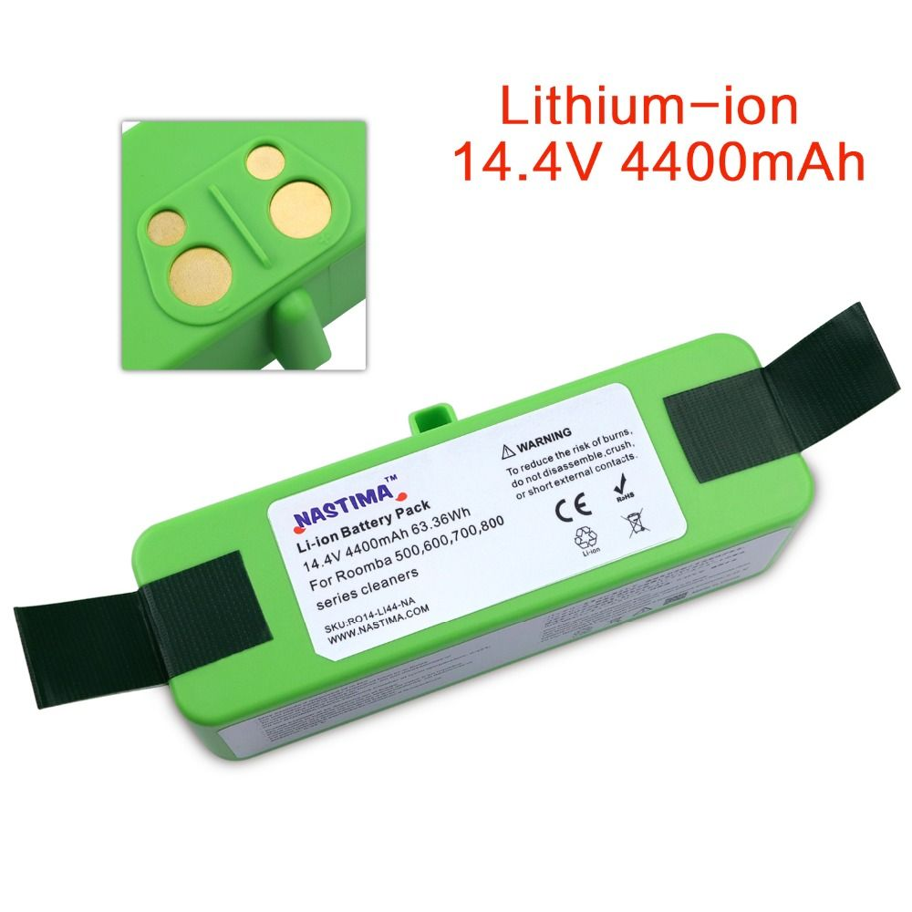 NASTIMA 4400mAh Li-ion Battery For iRobot Roomba Cleaner 500 600 700 800 Series -600 620 650 700 770 780 800 880