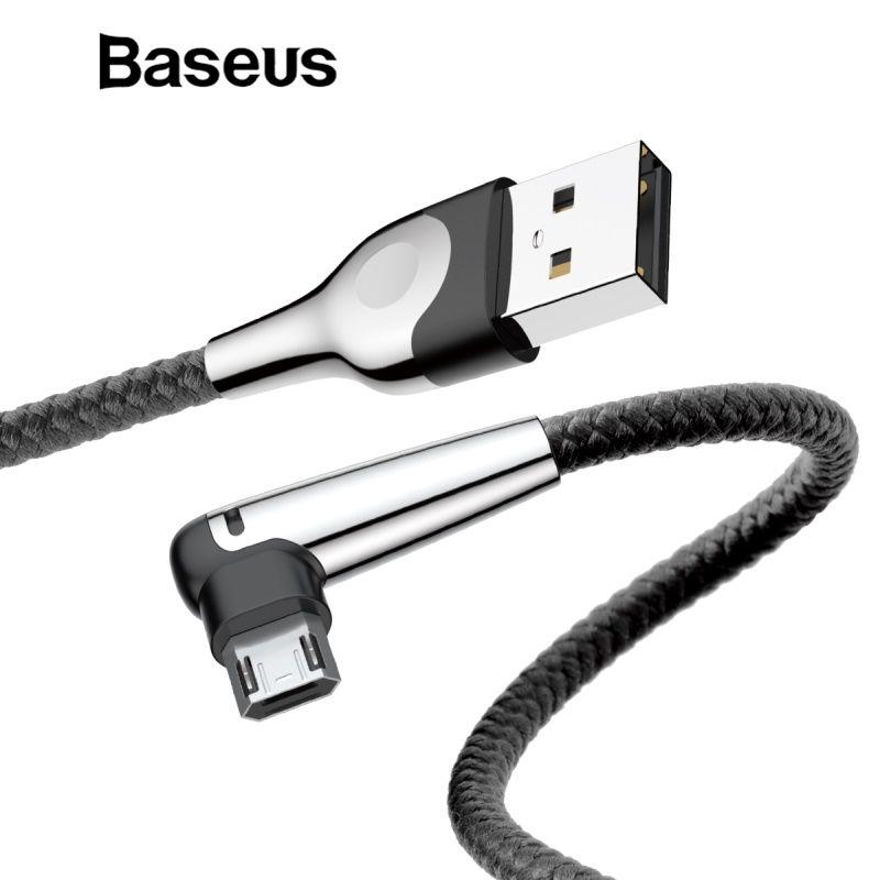 Baseus Micro USB Kabel Reversible Lade mit Led Beleuchtung für Xiaomi Redmi Hinweis 5 4x Plus Handy Chager Daten Doppel -seite Kabel