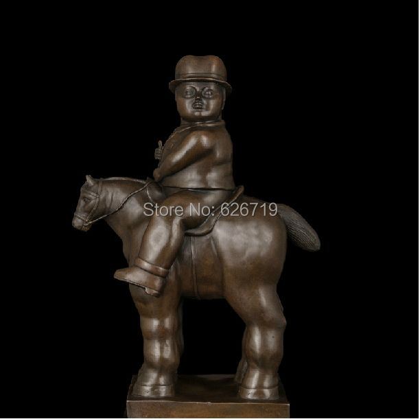 ATLIE BRONZES handmade lost wax casting gentleman riding on abstract tang horse sculpture bronze statue