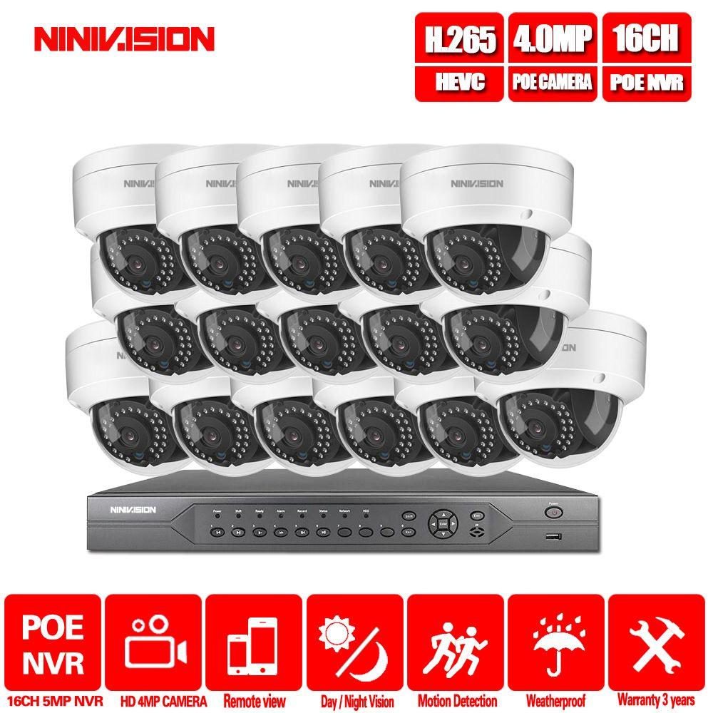 16CH 4 K POE NVR 5MP 4MP 3MP 2MP kit PoE IP Kamera P2P Wolke Onvif FTP CCTV System IR outdoor Nachtsicht Video Überwachung Kit