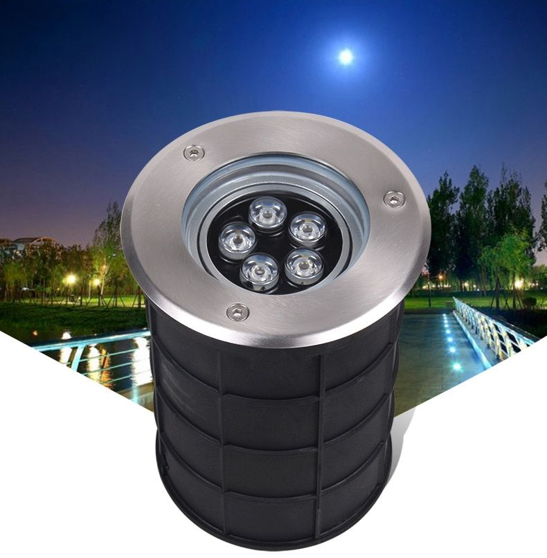 (5pcs/lot) 5*1w Adjustable Angle AC85-265V IP67 Dimmable Led Garden Ground Path Floor Underground Buried Yard Lamp