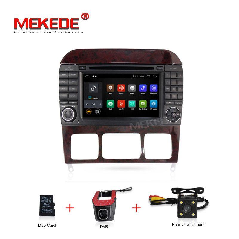 Android 7.1 Auto DVD Player Für Mercedes/Benz/S320/S350/S400/S500/W220/W215 /C Klasse S Klasse 2g RAM 4g WIFI Radio GPS + 8g karte