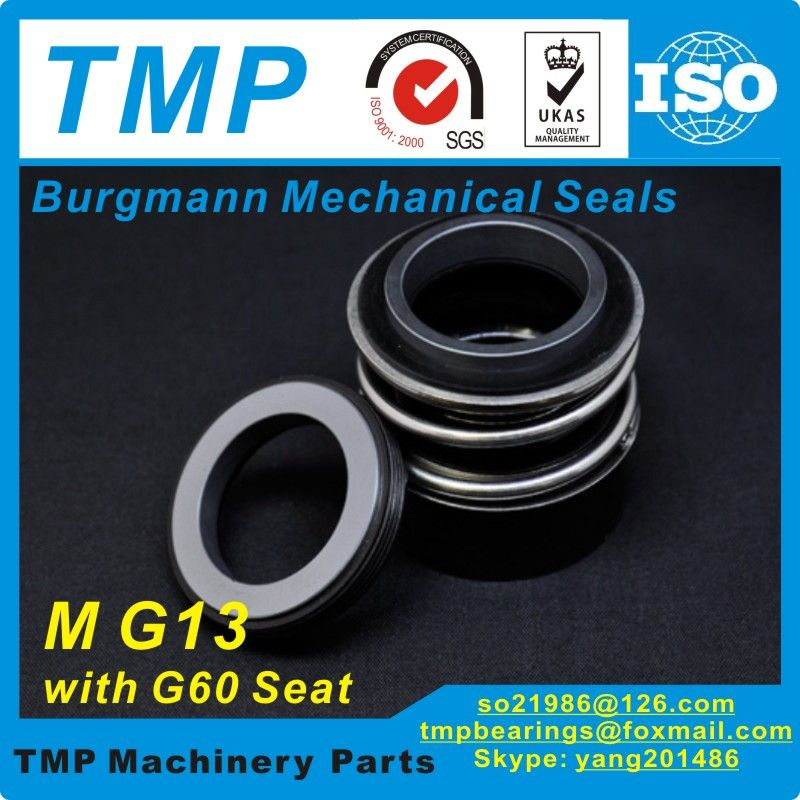 MG13-43 (MG13/43-G60) Burgmann Mechanical Seals for Water Pumps with G60 stationary seat-(Material:SIC/SIC/VITON)