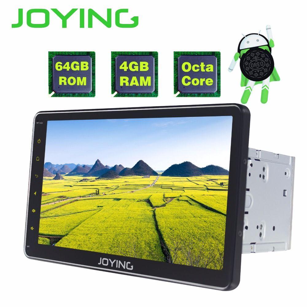 JOYING 2 din auto radio 4 gb + 64g ROM Android 8.0 Octa Core 10,1 zoll LCD touchscreen Universal Player kopf Einheit bluetooth Carplay
