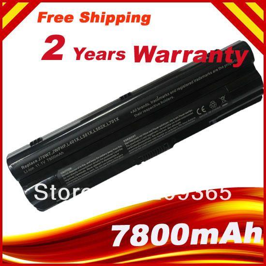 7800mAh 9cells batterie d'ordinateur portable Pour Dell XPS L401x L501x L502x L701x L702x L721x J70W7 JWPHF R795X WHXY3 R4CN5