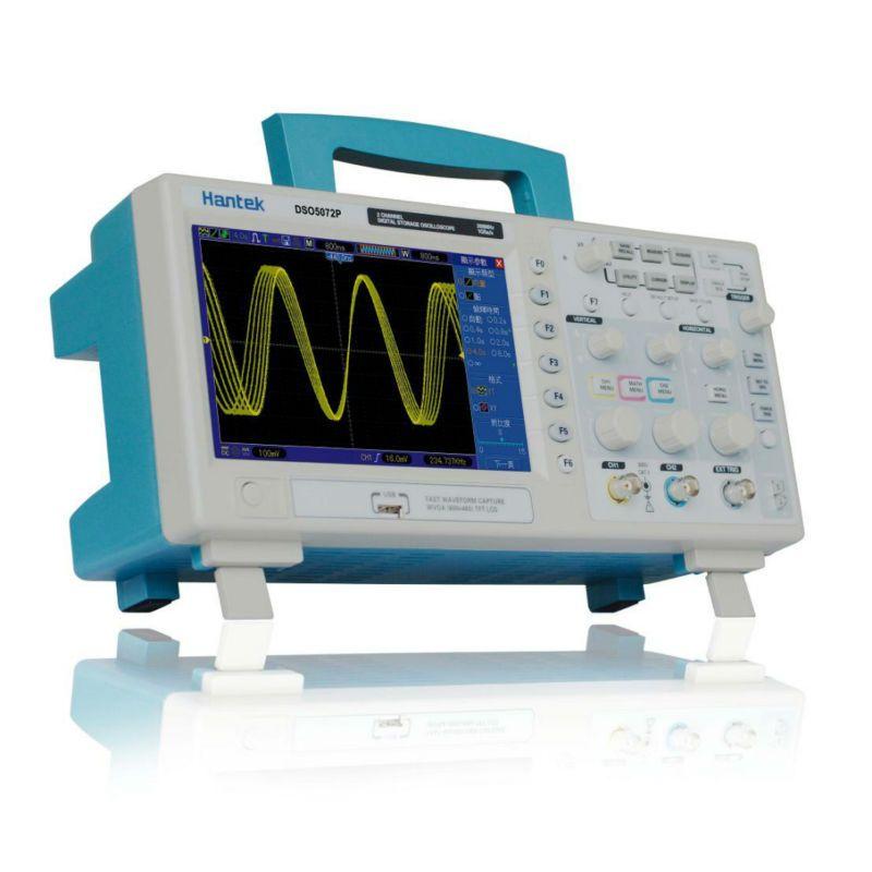 Hantek DSO5072P almacenamiento osciloscopio digital 70 MHz 2 canales 1GSa/s d longitud 24 K USB