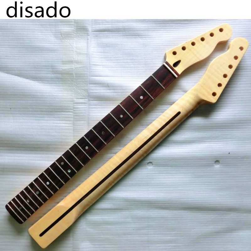 disado 22 Frets Tiger flame material maple Rosewood fingerboard Electric Guitar Neck wood color Guitar Parts accessories