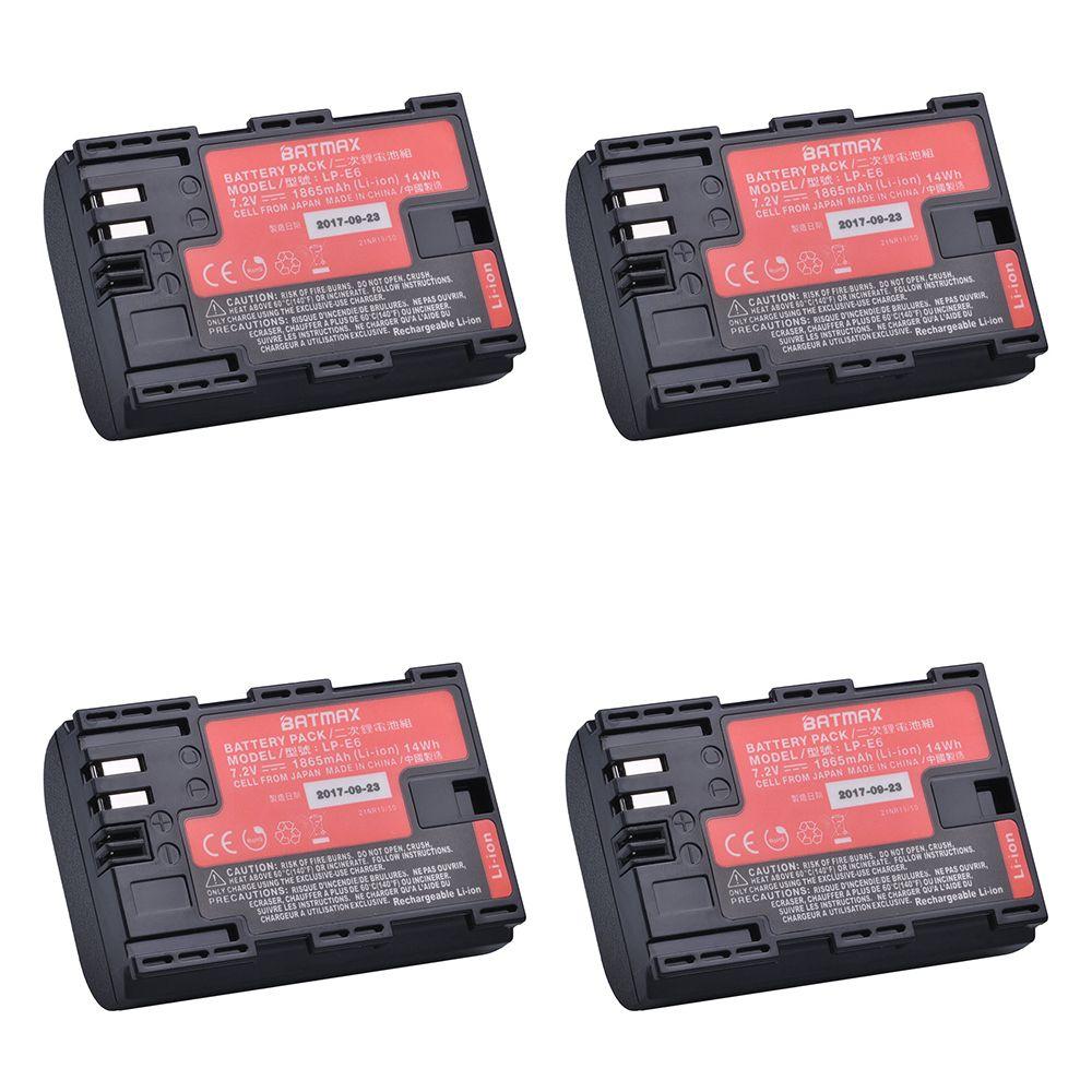 4 pièces LP-E6 LPE6 LP E6N batterie de caméra japon Sanyo batterie de cellule pour Canon DSLR EOS 5D Mark II Mark III 60D 60Da 7D 70D 6D appareil photo