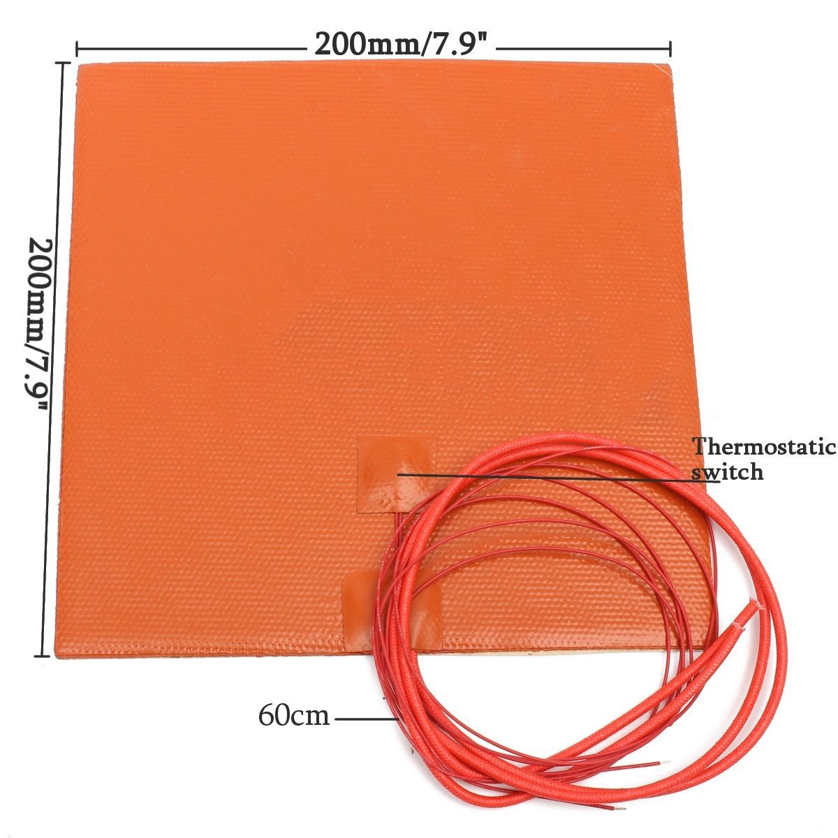 Fast Heating 200W 12V Silicone Heater Pad For 3D Printer Duplicating Machines Heated Bed Orange Heating Mat Repair Tools Mayitr