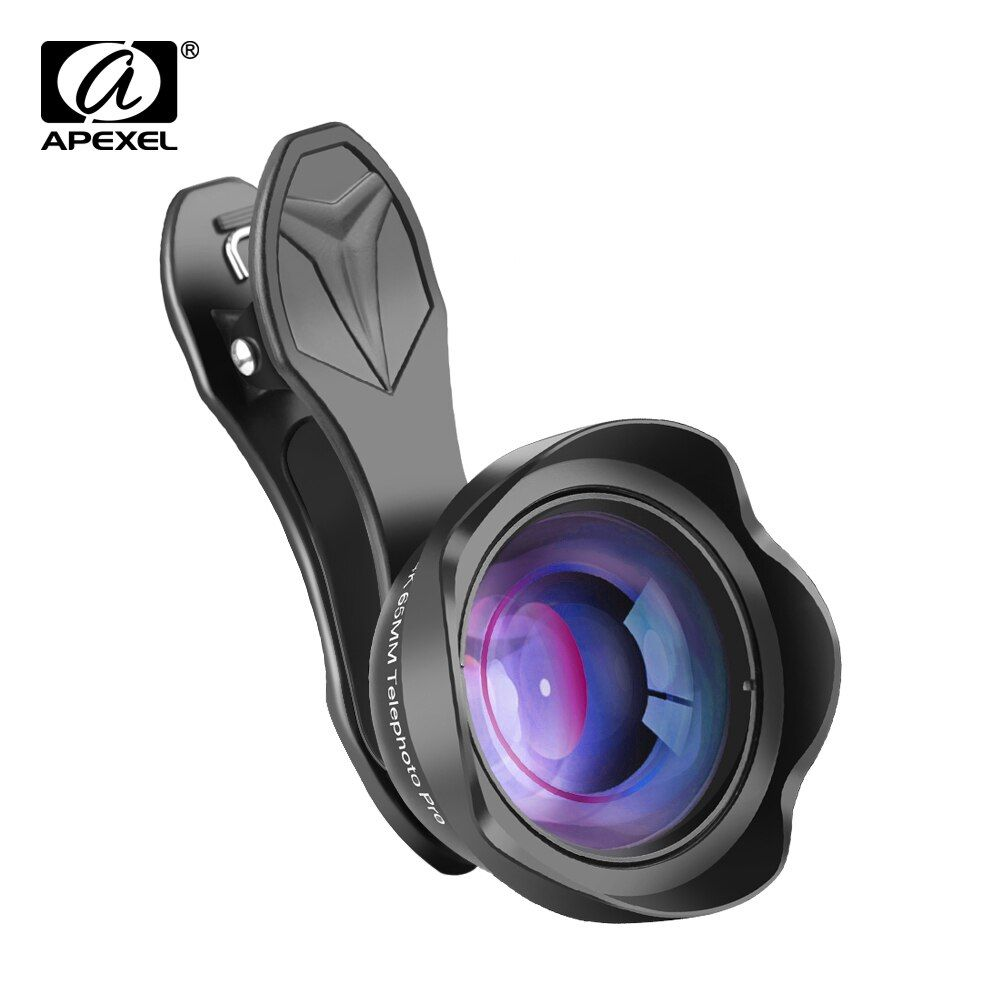 Objectif Portrait APEXEL 65mm 3X téléobjectif HD objectif de téléphone portable professionnel pour iPhone, Smartphone Samsung Android