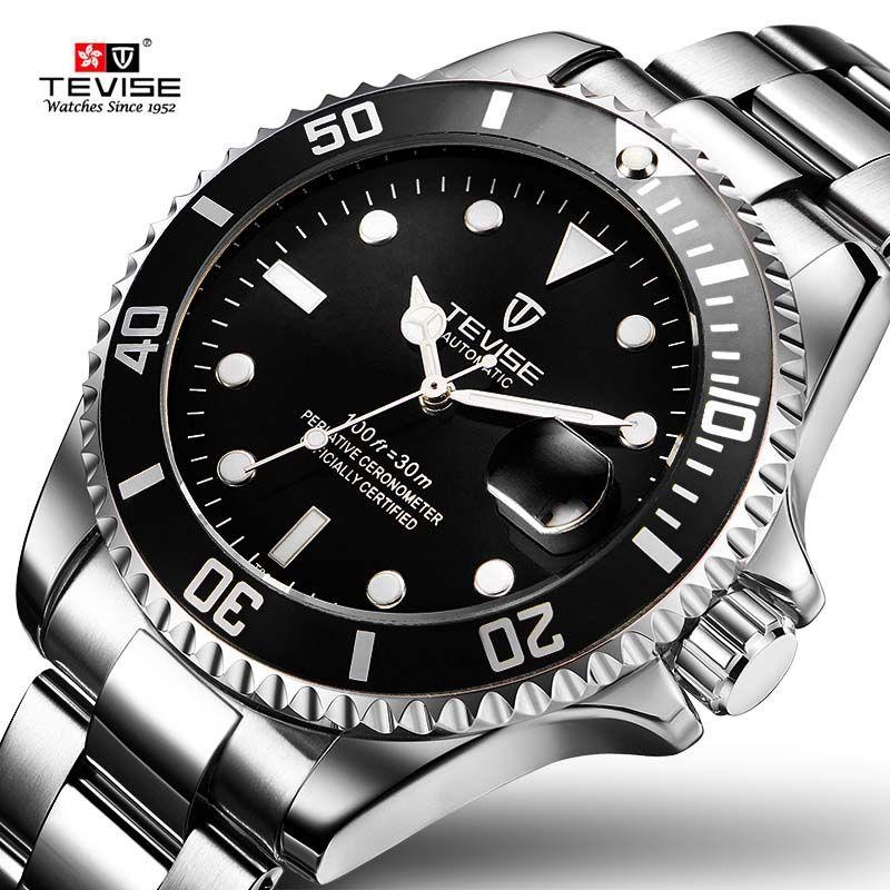 2017 Tevise Brand Men Mechanical Watch Automatic Role Date Fashione luxury Submariner Clock Male Reloj Hombre Relogio Masculino