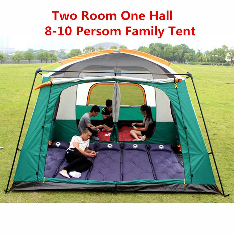 Außen 8 10 Personen-zelt Wasserdicht 4500mm 4 Saison Zelt Doppelschichten Hohen Qualität Camping Zelt