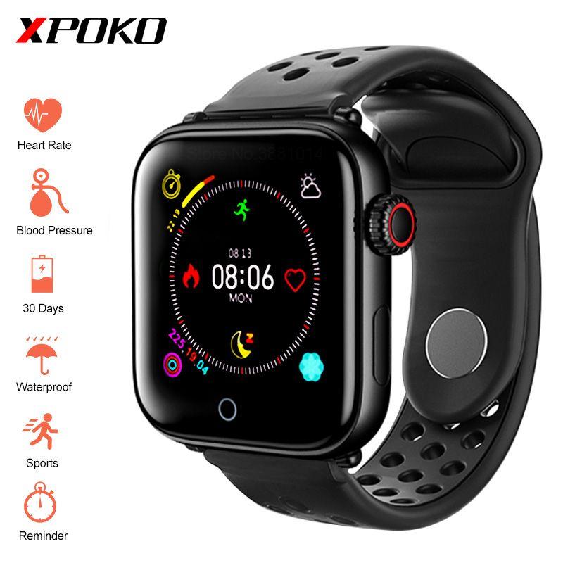Montre intelligente hommes étanche Smartwatch avec moniteur de fréquence cardiaque tension artérielle Bracelet de Fitness pour iPhone iOS montres Android