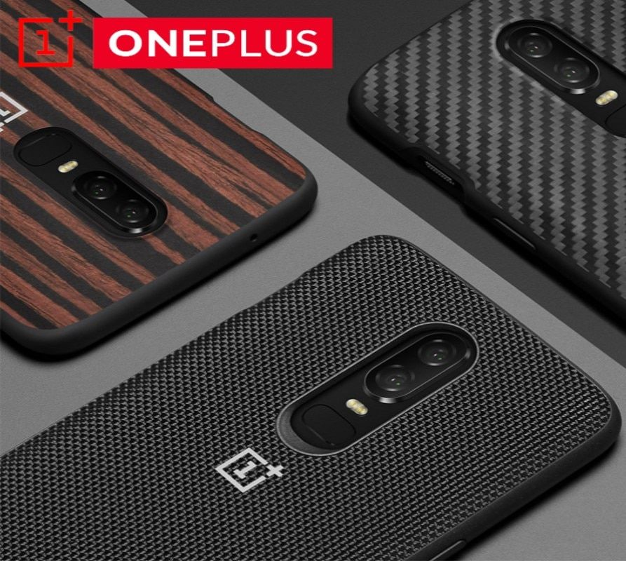 Original <font><b>OnePlus</b></font> 6 Bumper Case Official Original Material Kevlar + TPU All-round Protection Official Back Shell Cover OnePlus6