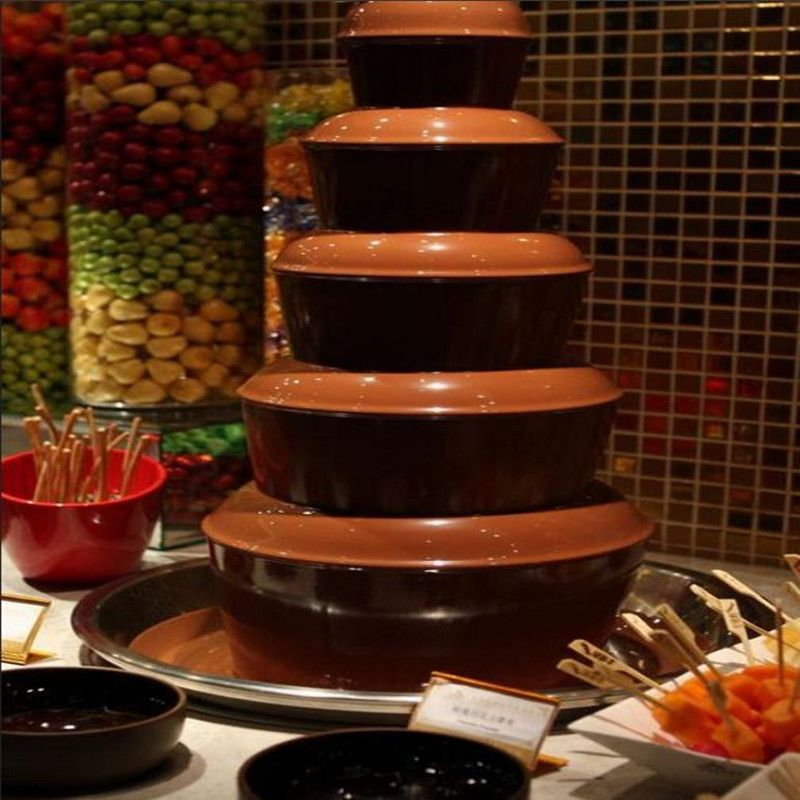 110V/220V Commercial Electric Chocolate Fountain Machine 6 Layers For Family Big Party EU/AU/UK/US Plug