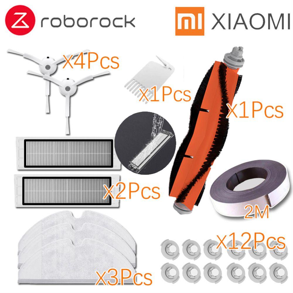 Xiaomi Roborock Robot S50 S51 Nettoyeur De Rechange Kits Vadrouille Chiffons Secs Humide de L'eau Nettoyage réservoir filtre Côté Brosse Rouleau brosse