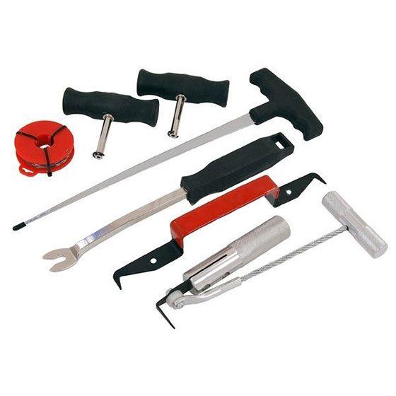 7pc Windscreen Glass Removal Set Car Van Windshield Kit Garage Hand Tool