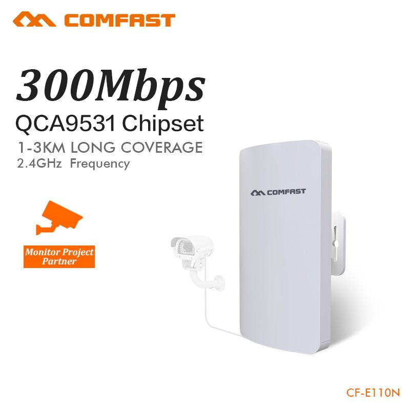 COMFAST mini wireless bridge 2.4ghz 300mbps outdoor CPE wifi router for ip camera project 1-2km long range amplifier CF-E110N