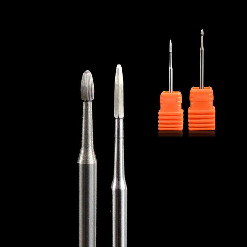 1PCS Small Metal Carbide Head Milling Cutter Burrs Nail Drill Bit Electric Machine Pedicure Accessory Nail Drill File TRPD02/03