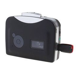 Cassette Player Radio Player Portable USB Cassette Tape to MP3 Converter Capture Audio Music Player H0TY0