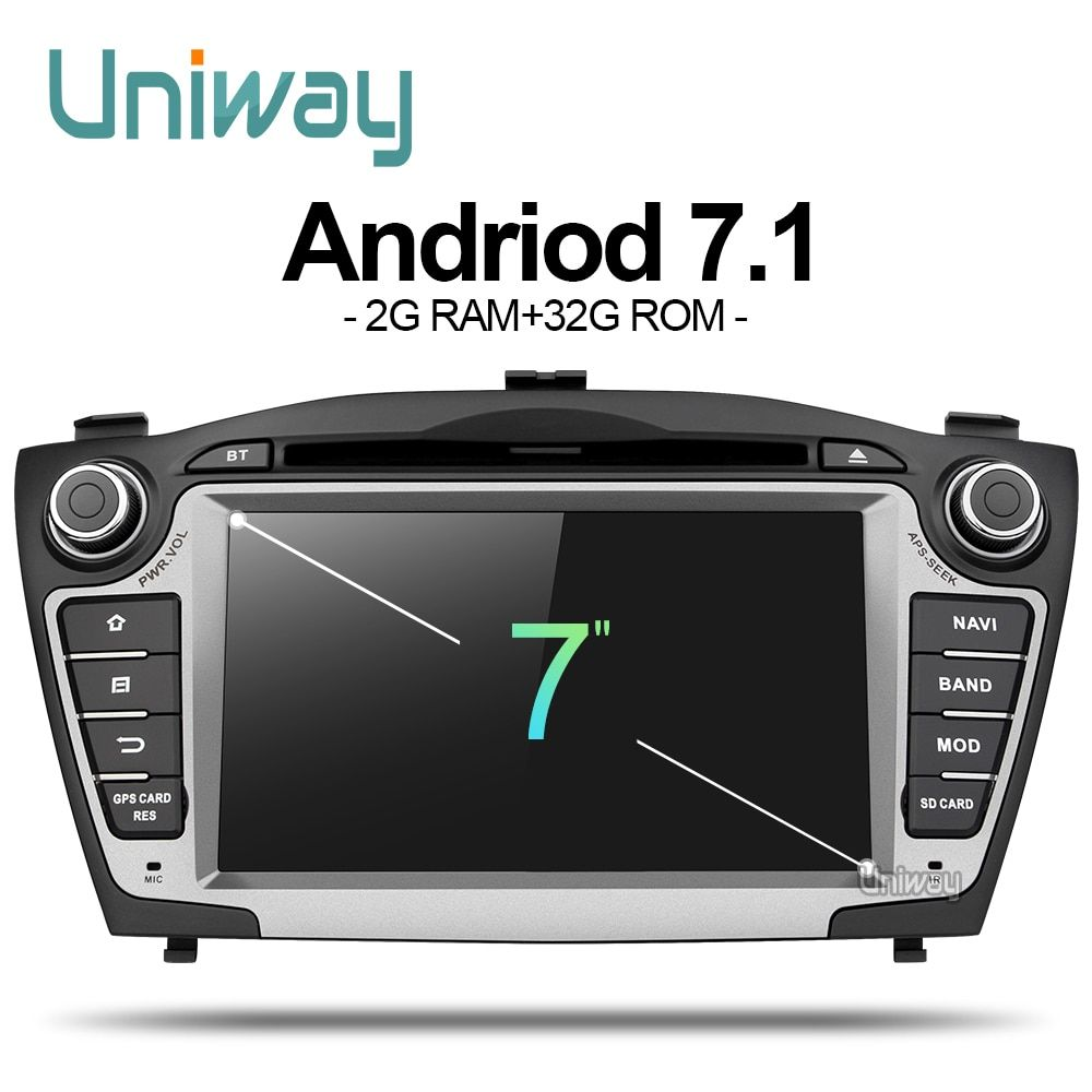 uniway ZIX357071 android 7.1 car dvd player gps for Hyundai IX35 Tucson 2009 2010 2011 2012 2013 stereo car navigation