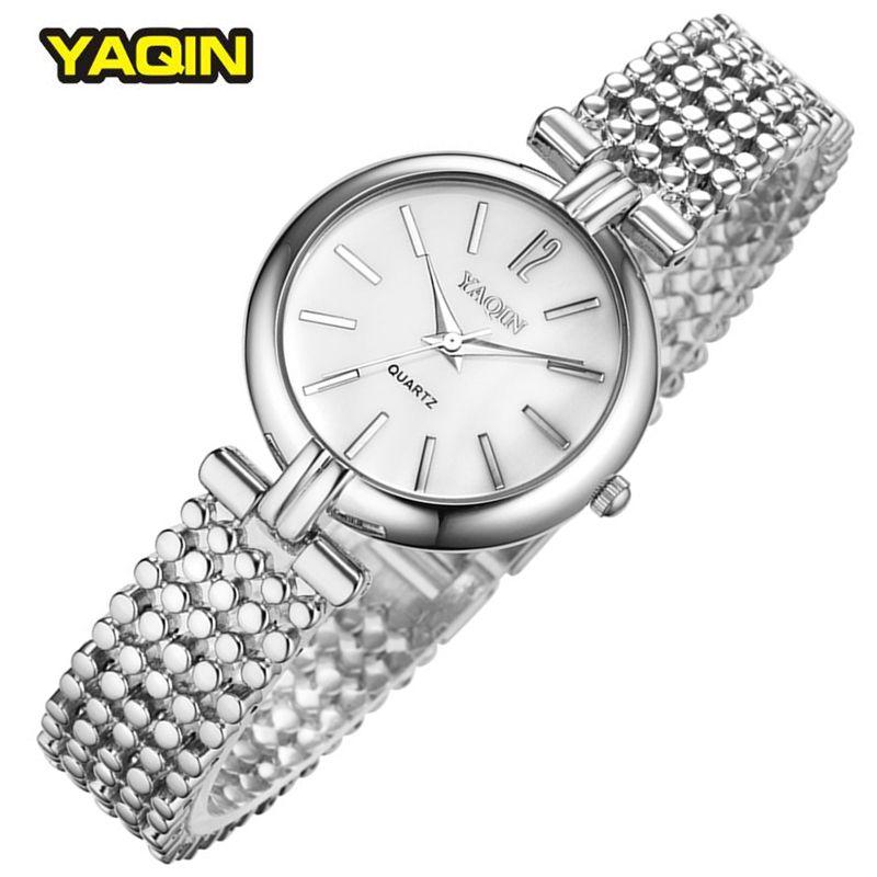 Simple Women Watch Elegant Silver Quartz-Watch Clocks Brand Ladies Watches 2016 Relogios Femininos Wristwatches