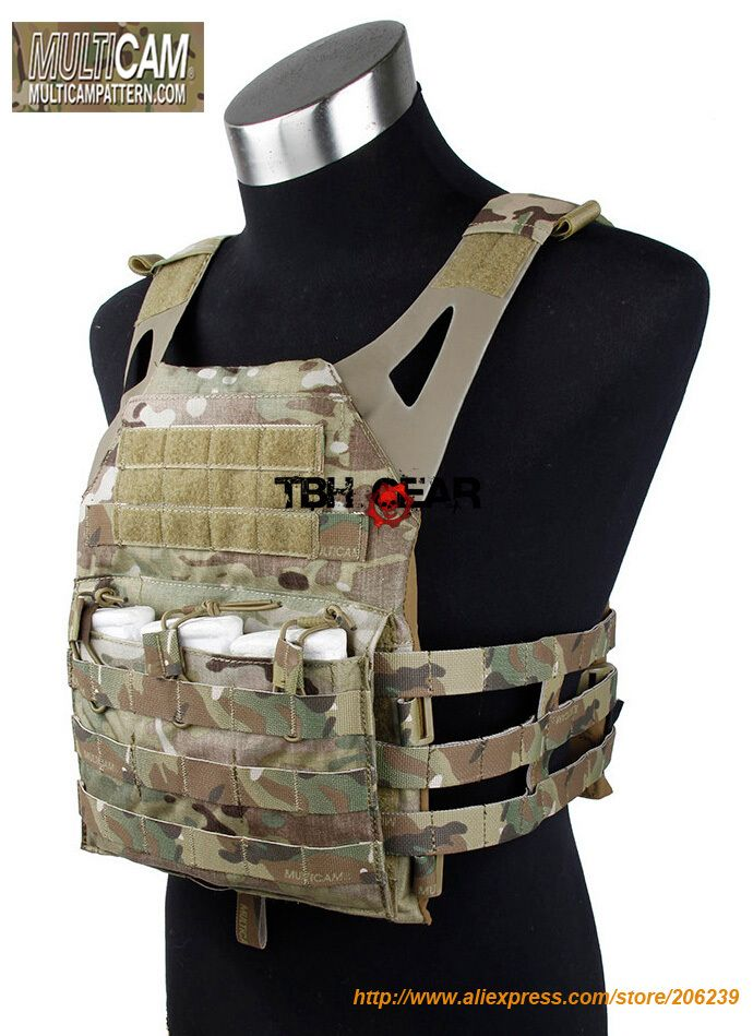 Jumper Plate Carrier JPC Vest Genuine JPC Multicam Tactical Vest With Dummy Plate+Free shipping(STG050268)