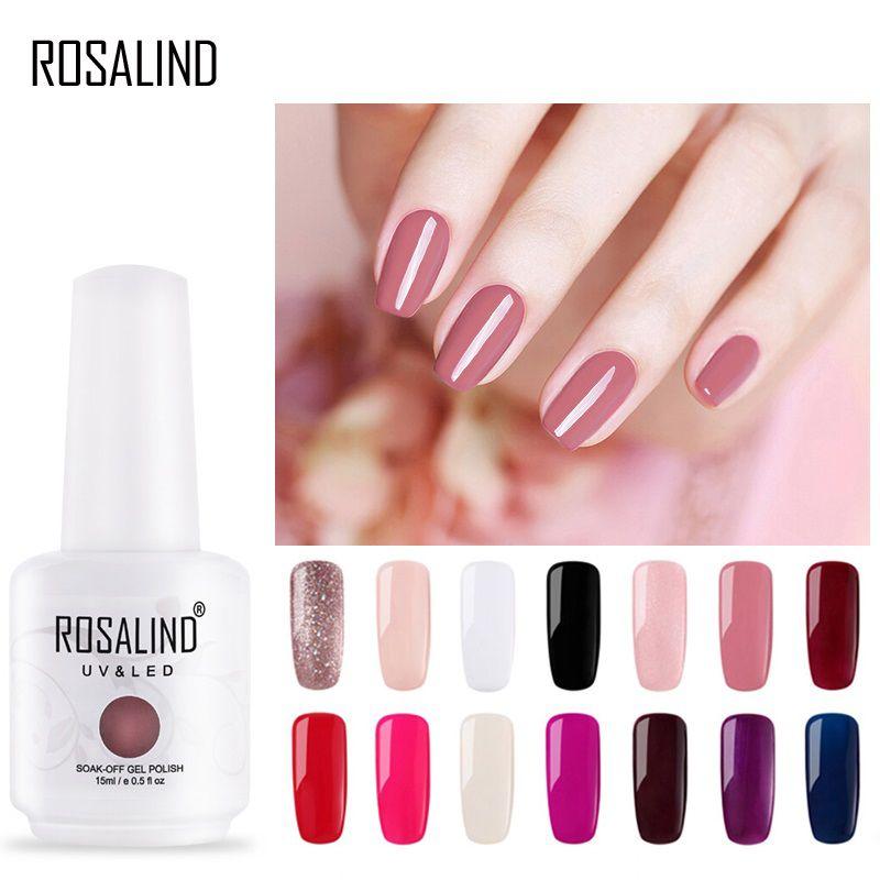 ROSALIND 15 ml Nagellack 1323-1532 Gel Lacke Für Nail art Design Maniküre UV LED Lampe Weg Tränken nagel gel lack