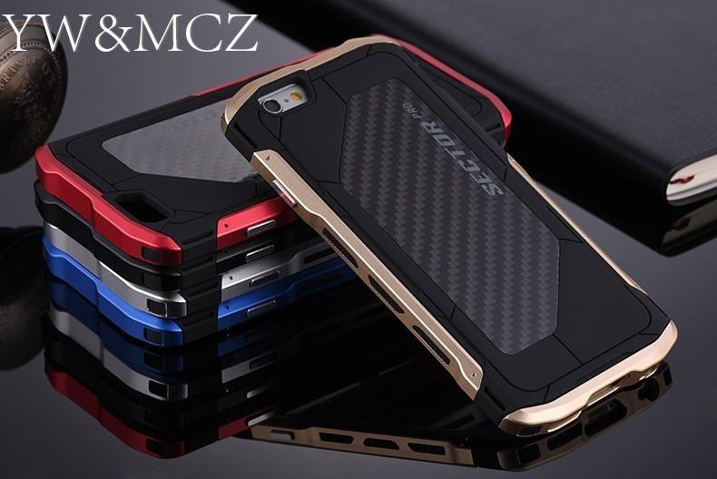 Étui pour iPhone 6 6 s Plus 7 8 plus en métal Ultra mince secteur PRO hommes couverture Cool pour iPhone X 10 coque de téléphone portable en aluminium carbone
