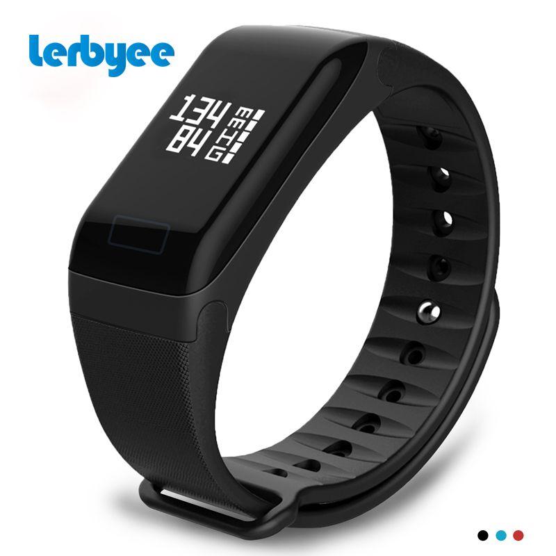 Lerbyee Fitness Tracker F1 Sleep Tracker Smart Bracelet Heart Rate Monitor Waterproof Smart Watch Activity Tracker for iPhone