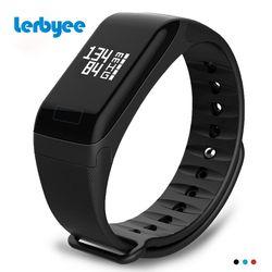 Lerbyee Fitness Tracker F1 Sleep Tracker pulsera inteligente Monitor de ritmo cardíaco impermeable banda Smart Activity Tracker para iPhone