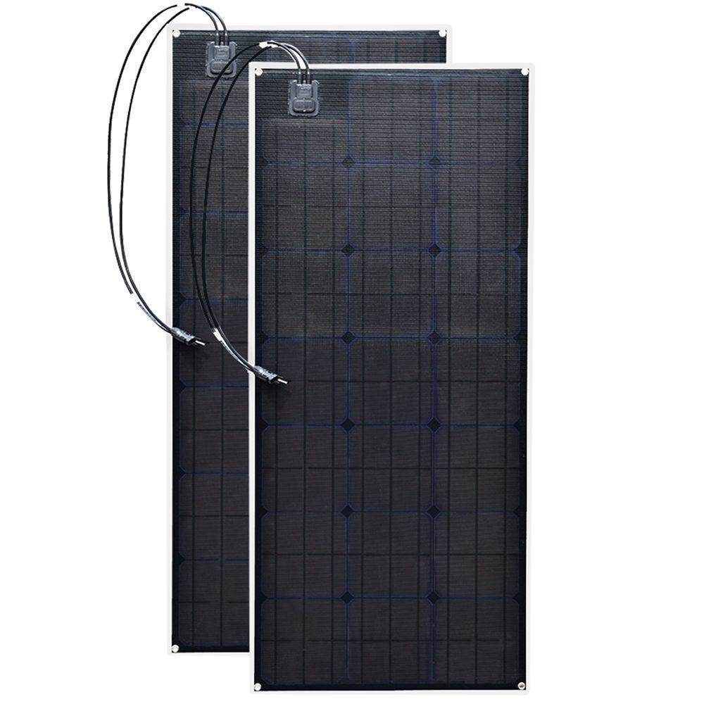 2 ETFE flexible solar panel 20,5 v 100 w Schwarz Klasse-EINE solar monokristalline solarzelle 200 watt 12 v/24 v dc wasserdicht platten 100 watt
