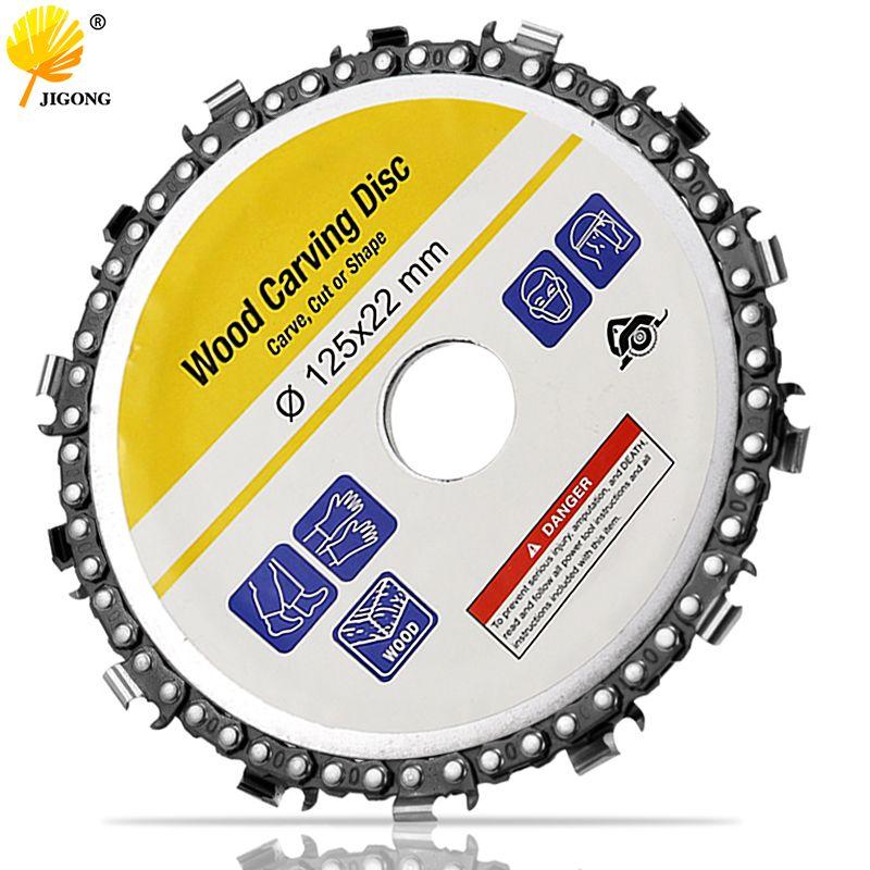 Disque et chaîne de meuleuse de 5 pouces chaîne de coupe Abrasive Fine à 14 dents pour meuleuse d'angle 125x22mm